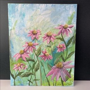 Other - Wall Art Painting Oil Floral Picture Daisies